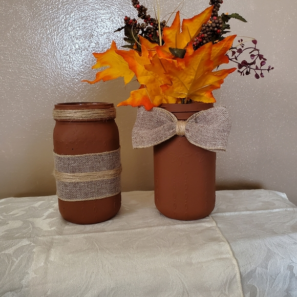Hand Crafted Other - Fall decor jars